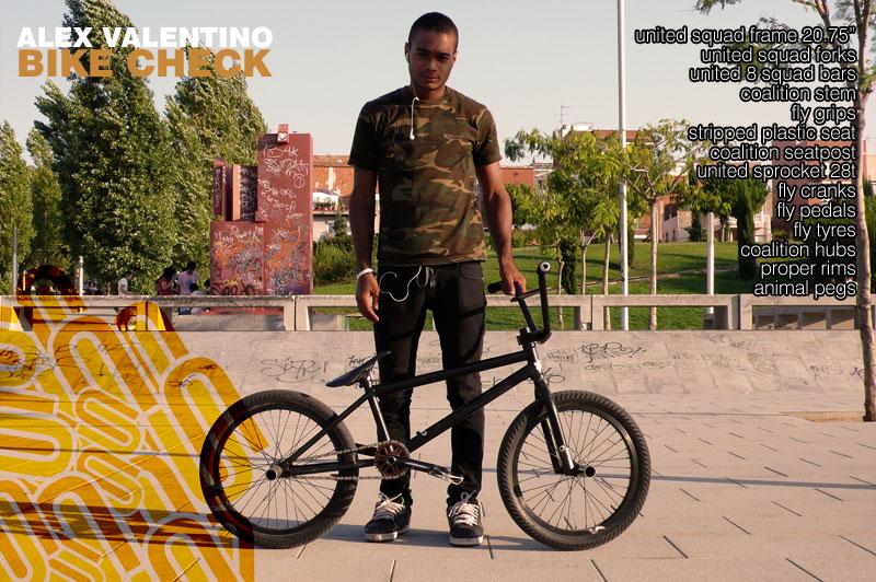Alex Valentino united bmx bike check