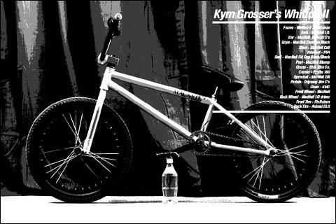 Kym Grosser macneil whitton frame bmx